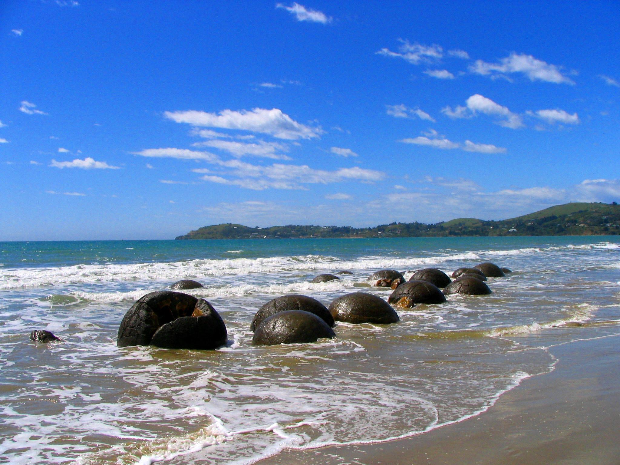 Moeraki Boulders de Nouvelle-Zélande