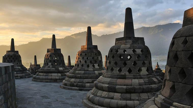 Borobudur, Indonésie