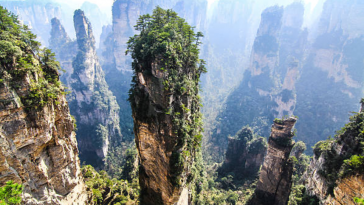 Monts Tianzi, Chine