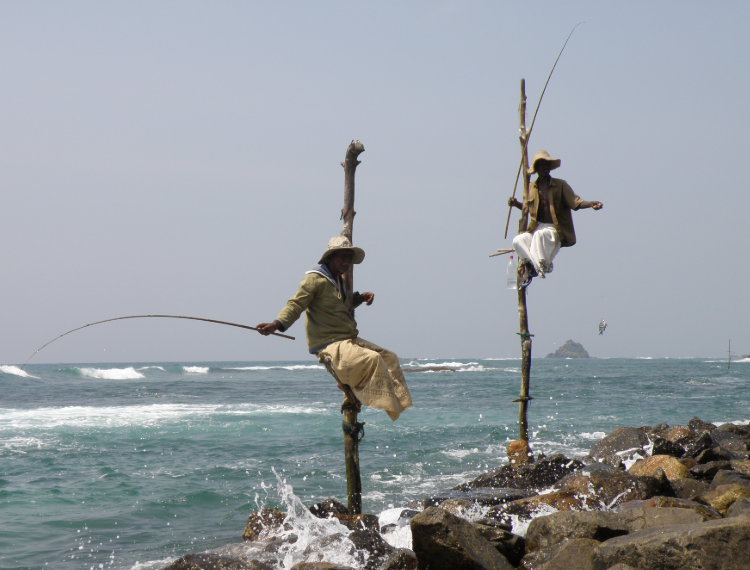 pêcheurs de Galle, Sri Lanka