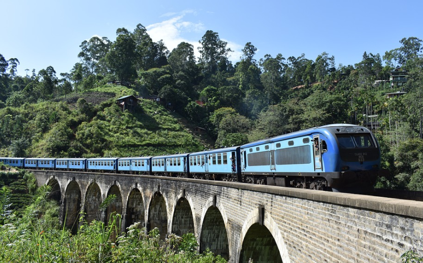 trajet en train, Sri Lanka