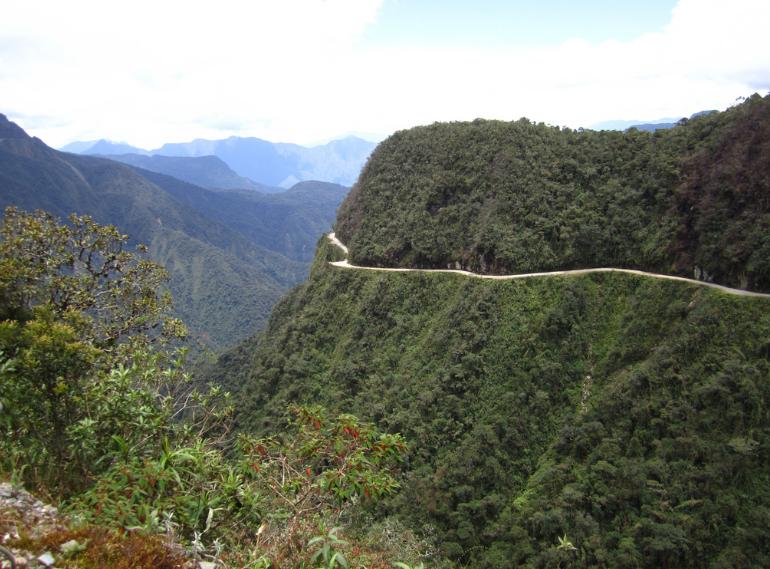 route des Yungas, Bolivie