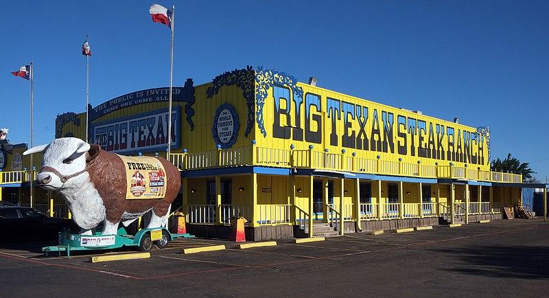 Big texan steak ranch route 66