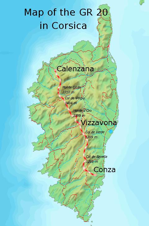 Carte du GR20