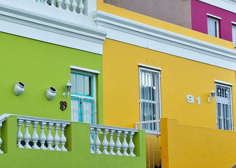 bo-kaap afrique du sud maisons couleur
