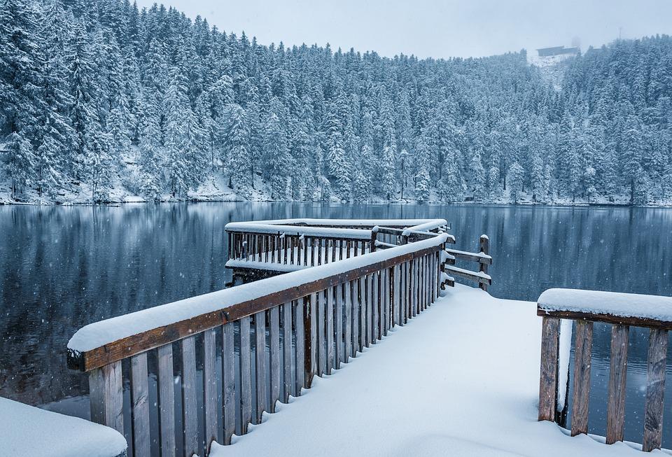 foret-noire allemagne lac neige