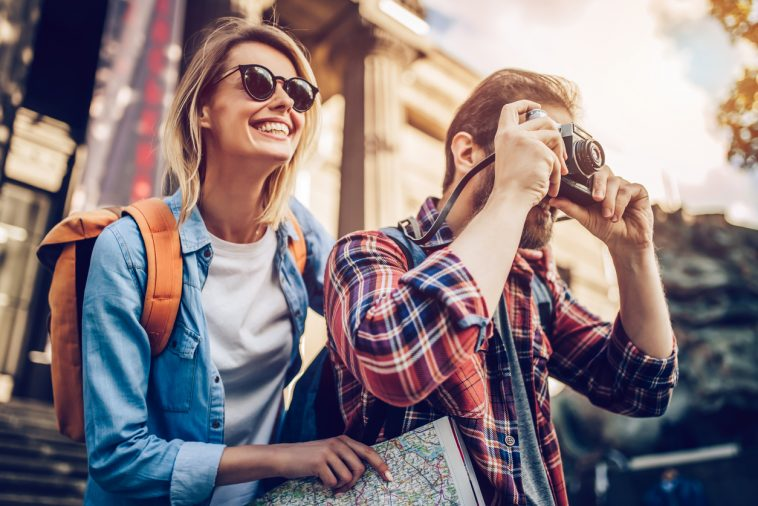 couple photo touristes voyages photographie