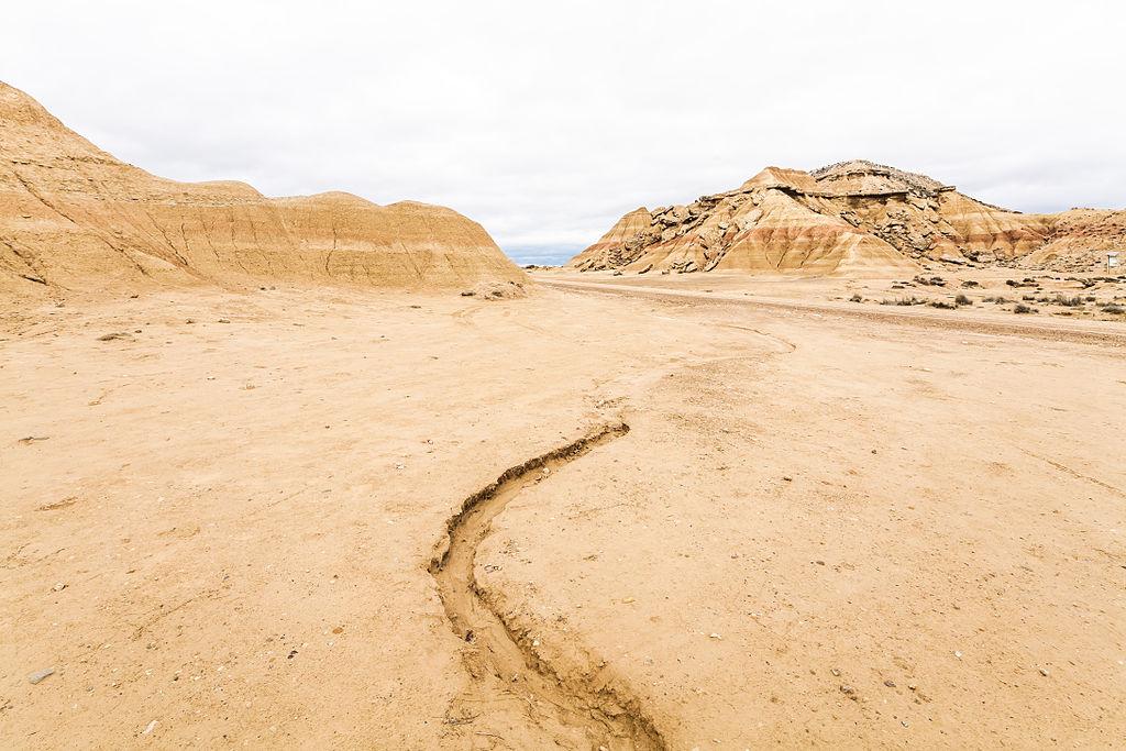 désert des Bardenas en Espagne route