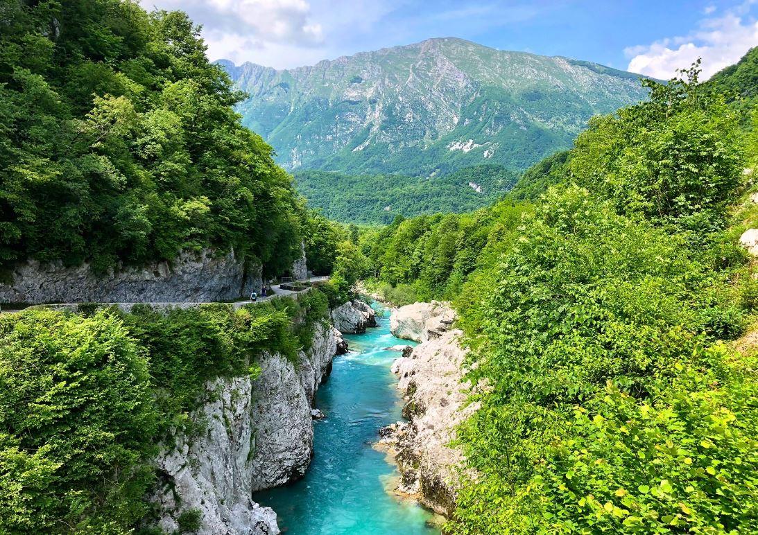 voyage en Slovénie le long de la rivière soca