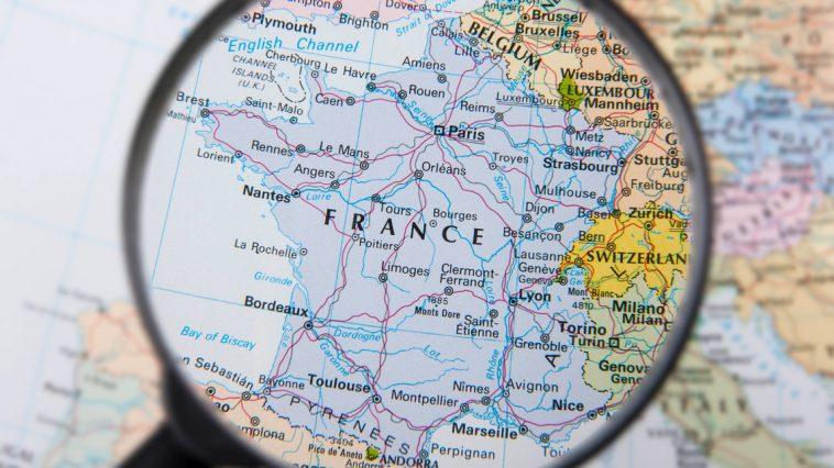 carte france hexagone région département pays